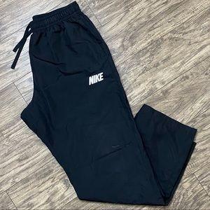 Nike Windbreaker Track Pants Black Spell Out Large